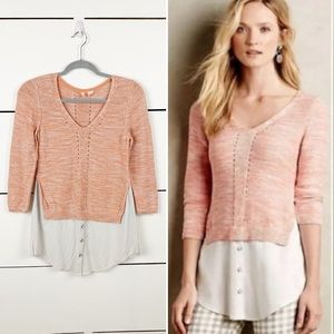 ANTHROPOLOGIE MOTH Aselin Faux Layered Sweater